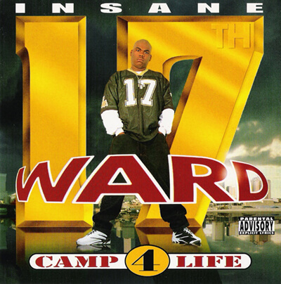 Album cover for Camp 4 Life by Insane Ward. (Big Boy Records, 1995).