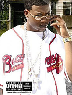 Album cover for Trap House by Gucci Mane. (Big Cat Records, 2005).
