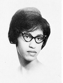 Gwendolyn Ann Jones, 1963. Photo from Woman's College of the University of North Carolina yearbook, Pine Needles.