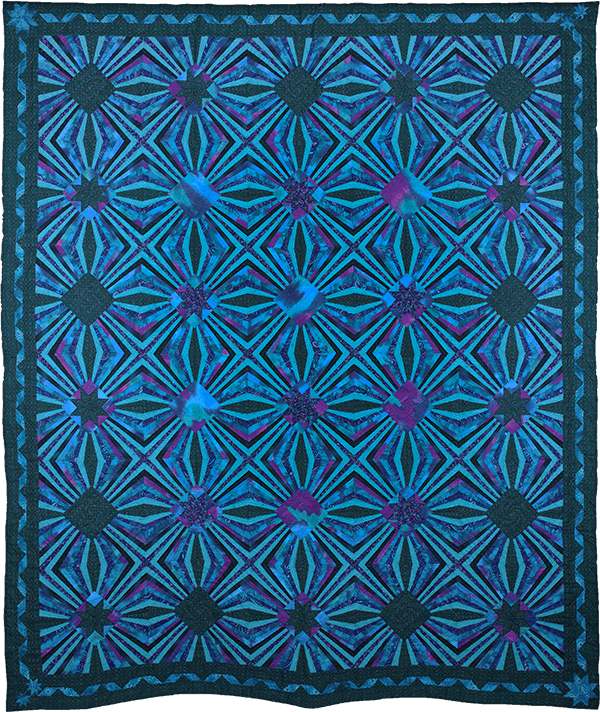 Infinity, 1995. © Gwendolyn A. Magee. Pieced, quilted, and stitched, fabrics. 105.5''x90''. Collection D. E. Magee. Photography © 2014 Dave Dawson Photography.