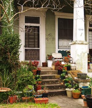 Horticulturist, 1240 Moss Street, Faubourg St. John, New Orleans, Louisiana, 2010. Photograph by Cynthia Scott. © Cynthia Scott.