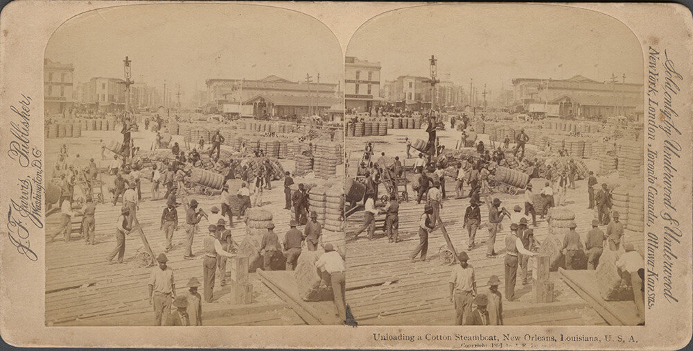 Detail of stereograph. Photograph by Paige Knight. Courtesy of Pellom McDaniels III and Paige Knight.