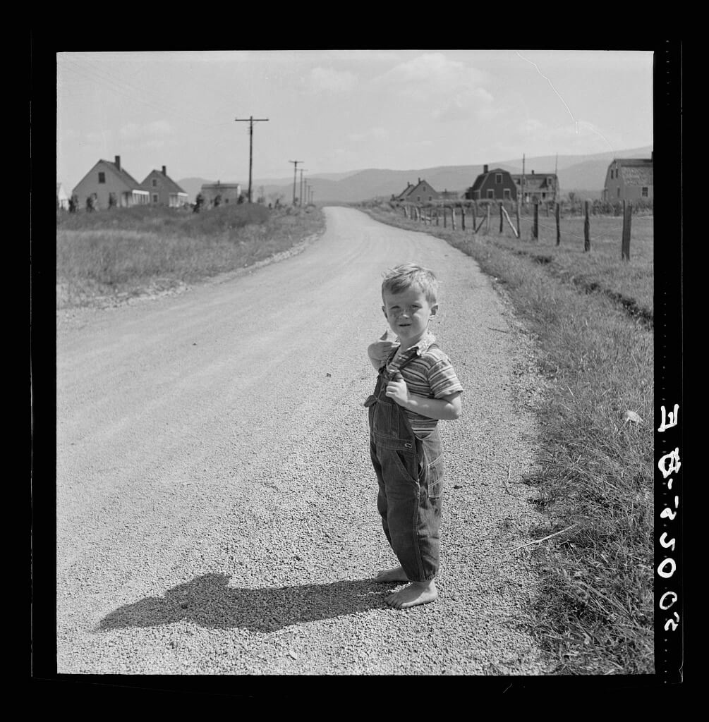 Child of homesteader, Tygart Valley, West Virginia, 1938. Photograph by Marion Post Wolcott. Courtesy of the Library of Congress Prints and Photographs Division, loc.gov/pictures/item/2017799285.