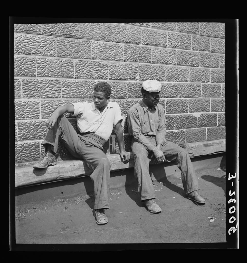 """Sittin' Around"" Mining Town, Osage, West Virginia, 1938. Photograph by Marion Post Wolcott. Courtesy of the Library of Congress Prints and Photographs Division, loc.gov/pictures/item/2017799292."