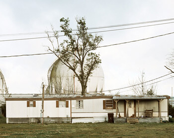 Trailer Home and Natural Gas Tanks, Good Hope Street, Norco, Louisiana, 1998. Photograph by Richard Misrach. Courtesy of Pace/MacGill Gallery, New York; Fraenkel Gallery, San Francisco; and Marc Selwyn. © Richard Misrach.