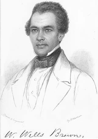William Wells Brown, ca. 1852. Illustration by unknown artist. Originally published in William Wells Brown's Three Years in Europe (Charles Gilpin, 1852). Courtesy of Wikimedia Commons. Image is in public domain.