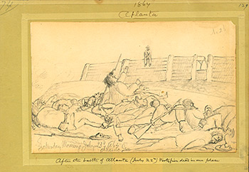 Confederate dead after the Battle of Atlanta, July 23, 1864. Sketch by Henry Dwight. Courtesy of Ohio Historical Society.