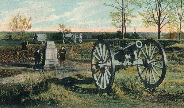 Fort Walker, Grant Park, Atlanta, Georgia, ca. 1910. Vintage postcard.