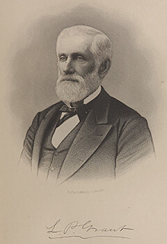 Lemuel P. Grant, Confederate engineer responsible for the construction of Atlanta's inner fortifications, 1889, Wallace P. Reed, History of Atlanta, Georgia: With Illustrations and Biographical Sketches of its Prominent Pioneers, vol. 2 (Syracuse, New York: D. Mason and Company, 1889), 168. Manuscript, Archives, and Rare Book Library, Emory University.