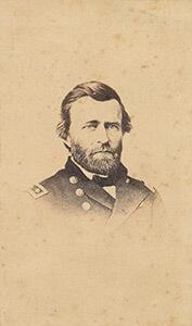Lieutenant Ulysses S. Grant, general-in-chief of the Union armies. Carte de visite, albumen print.