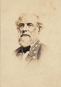 Robert E. Lee, commander of the army of North Virginia. Carte de visite, albumen print.