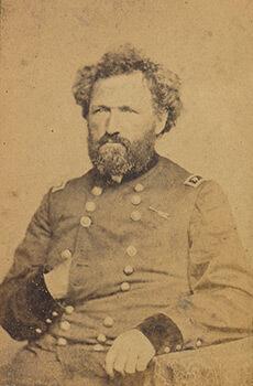 Union Brigadier General Mortimer D. Leggett. Carte de visite, albumen print.
