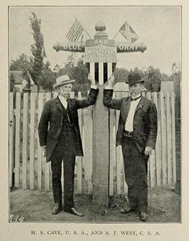Blue-Gray reunion, Leggett's Hill, 1906, Confederate Veteran.