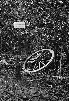 Scene of General McPherson's death, Atlanta, Georgia, ca. 1864. Detail of wet collodion by George Barnard.