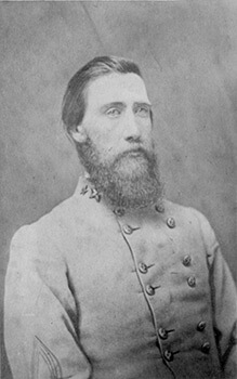 Lieutenant General John Bell Hood, commander of the Confederate Army of Tennessee. Photographic print.
