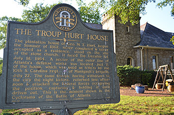Troup Hurt House and converted church, Degress Avenue, Atlanta, Georgia, May 10, 2014. Photograph by Daniel Pollock.