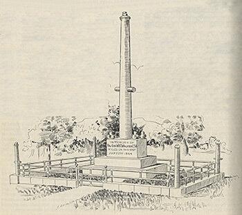 Walker Monument, original placement in 1902, Confederate Veteran, July 1902.