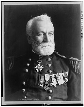Major General Oliver Otis Howard, former commander of the Union Army of Tennessee. Photographic print, ca. 1908.