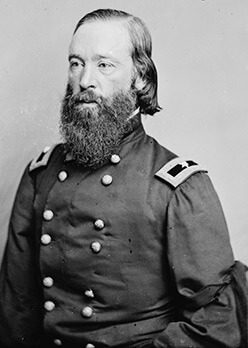 Union Brigadier General Thomas W. Sweeny, ca. 1865. Wet plate negative.