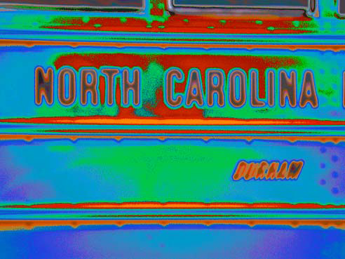 North Carolina bus side, October 27, 2007. Photograph by Flickr user psychdelicfivecats. Creative Commons license CC BY-NC-ND 2.0.
