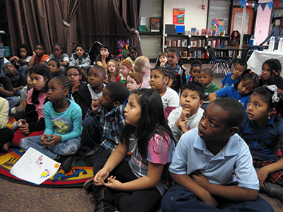 "Students at Hickory Hills Elementary School, Marietta, Cobb County, Georgia, December 3, 2010. Photograph courtesy of the city of Marietta, CC BY. In Cobb and other ""nearing majority black"" suburban counties schools are becoming increasingly segregated."