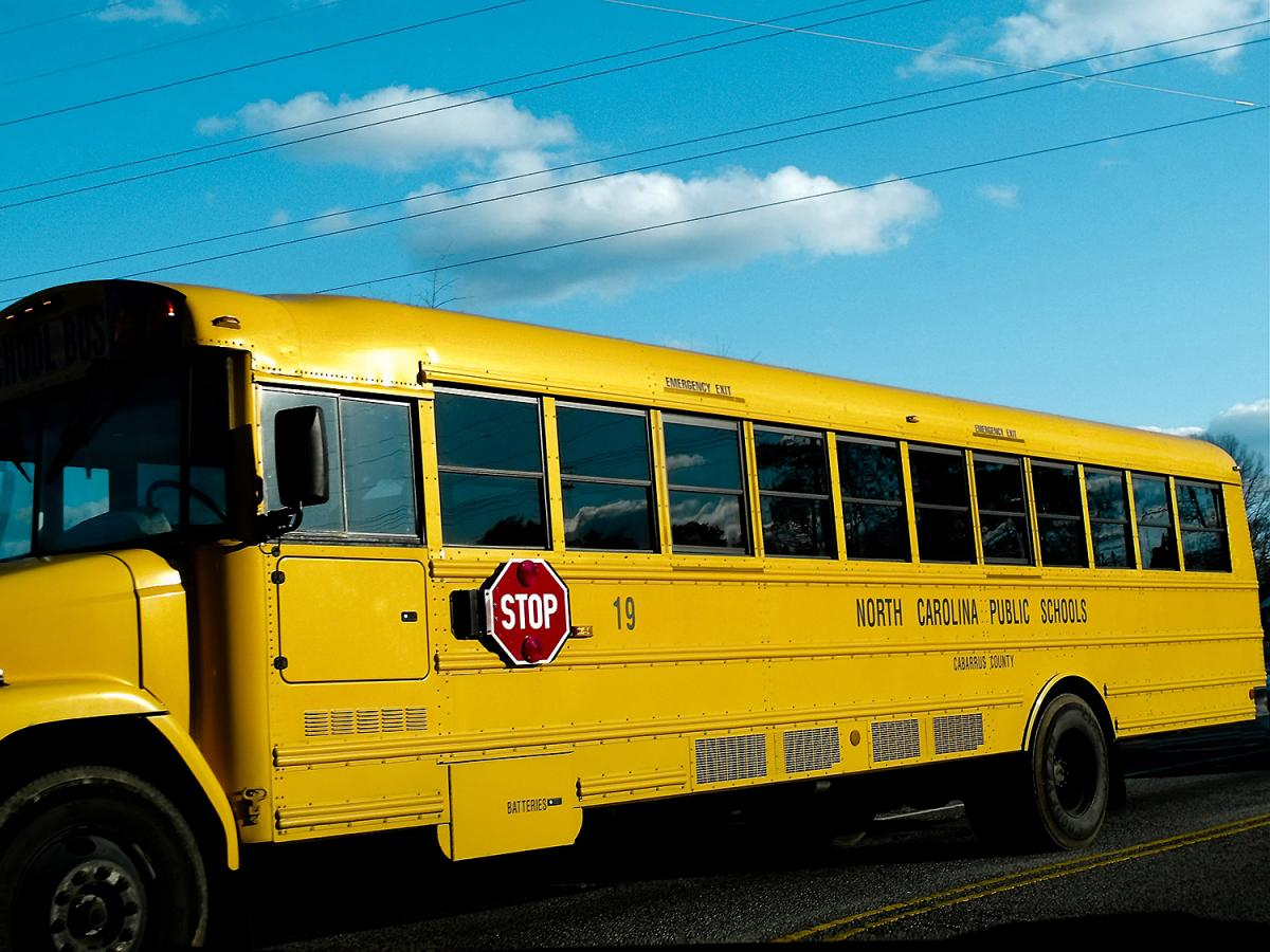 North Carolina school bus. Photograph by Flickr user Dale Moore. Creative Commons license CC BY-NC-ND 2.0.
