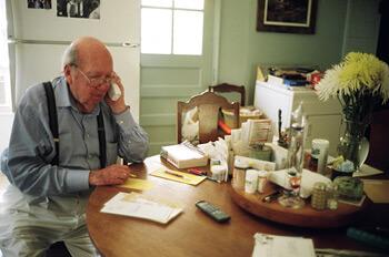 Tom Rankin, Will Campbell working, Mt. Juliet, Tennessee, July 31, 2007.