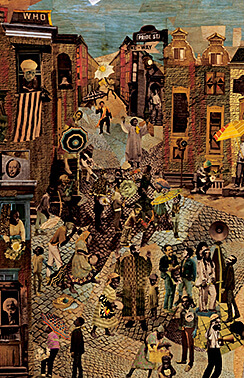 Dancing in the Streets, collage montage on museum board by Jean Lacy, 1976. Photograph by the Tyler Museum of Art. Back cover art of the 2014 Callaloo Conference program. Courtesy of the Callaloo Conference.