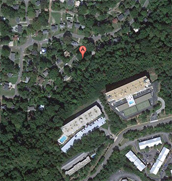 Location of Smith's house, Birmingham, Alabama. Copyright GoogleMaps, 2013.