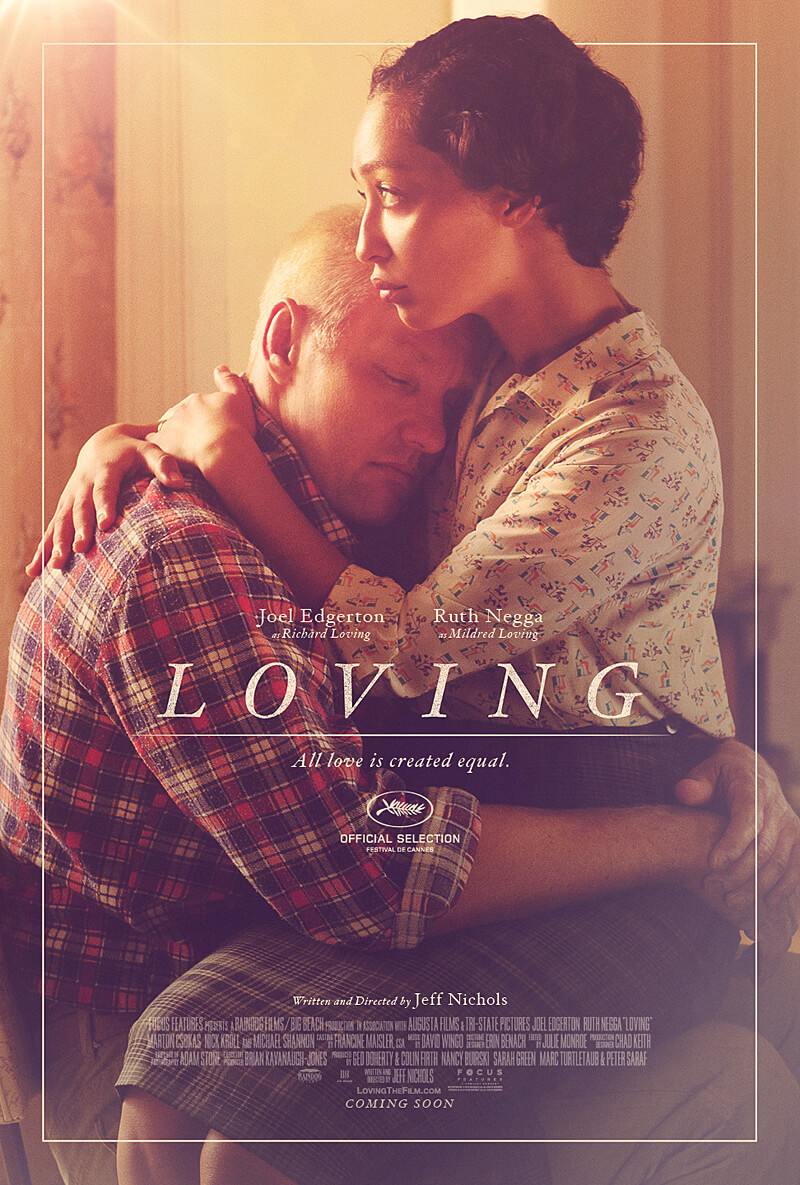 Promotional poster for Loving (2016).