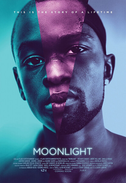 Promotional poster for Moonlight (2016).