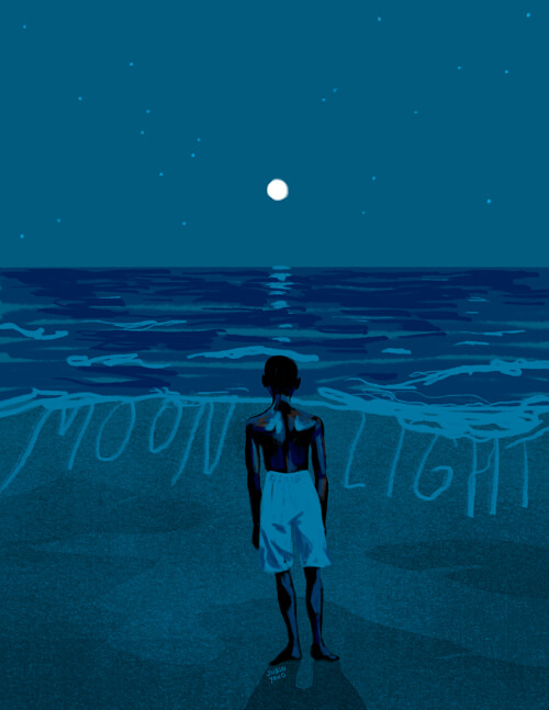 """In moonlight, black boys look blue,"" alternative poster created by Subin Yang, 2016. Courtesy of Subin Yang."