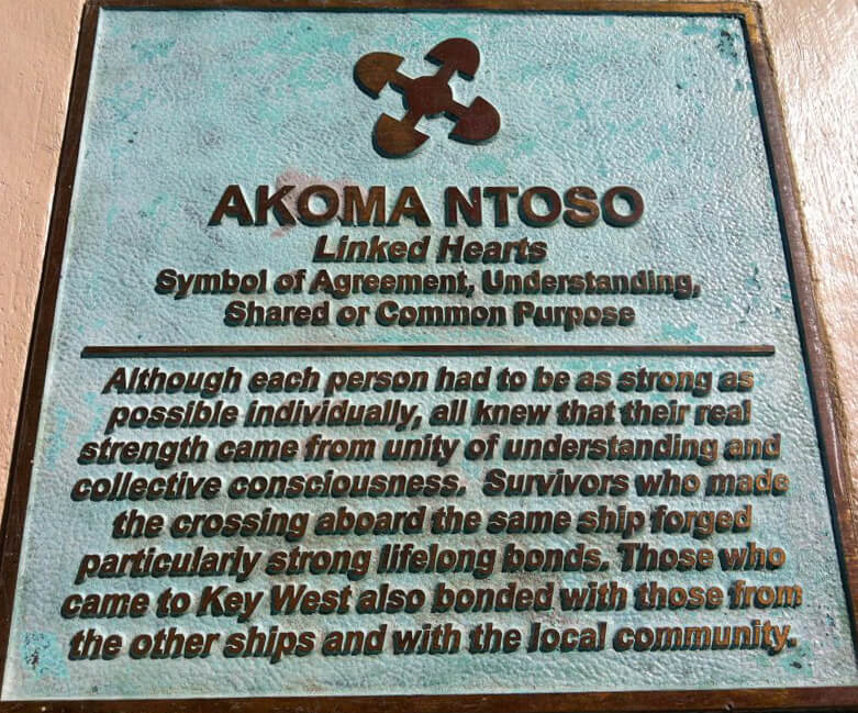 Akoma Ntoso Adinkra symbol, African Cemetery at Higgs Beach memorial plaza, Key West, Florida, March 2014. Photograph courtesy of the author.
