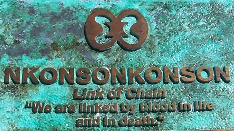 "Nkonsonkonson: ""We are linked by blood in life and in death."" Adinkra symbol at the African Cemetery at Higgs Beach, Key West, Florida, March 2014. Photographs courtesy of the author."
