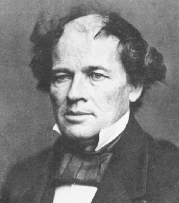 Matthew Fontaine Maury (January 14, 1806 – February 1, 1873), founder and promoter of the New Virginia Colony. 1850s photograph courtesy of Wikimedia Commons. Image in public domain.