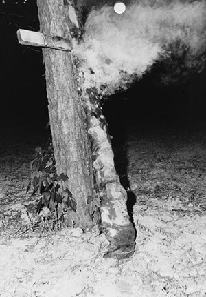 Sunbeam cross burning, Scott County, Mississippi, 1965. Mississippi Department of Archives and History Digital Collections, Sovereignty Commission Papers, Mississippi State Sovereignty Commission. Courtesy of the Mississippi Department of Archives and History.