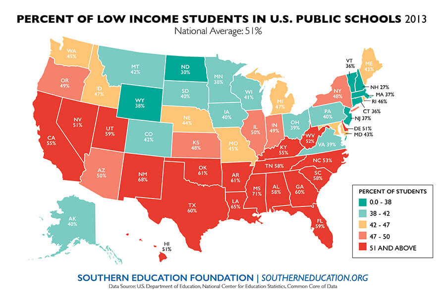 Image result for 2019 low income students in the US