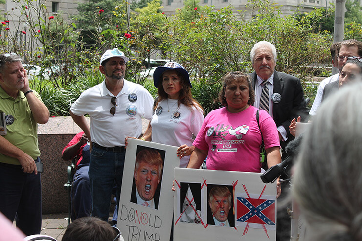 Dump Trump Rally at Freedom Plaza, Pennsylvania Avenue, Washington, DC, July 9, 2015. Photograph by Flick user Elvert Barnes. Creative Commons license CC BY-SA 2.0.