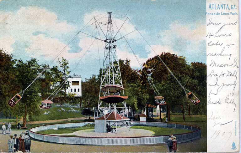 Ponce de Leon Park's Giant Swing, circa 1907