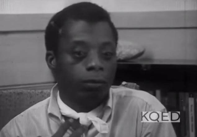 Still of James Baldwin, interviewed by Dr. Kenneth Clark, KQED, May 1963. For a clip from the interview, see https://www.youtube.com/watch?v=ENjmP-EaO7A.