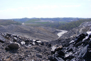 Site of a strip mine on the south-southeast border of Robinson Forest, Kentucky, 2009. Photograph courtesy of Kentucky Heartwood.