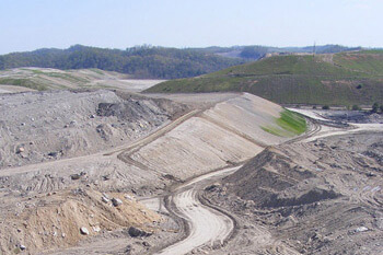 Aerial view of a strip mine on the south-southeast border of Robinson Forest, Kentucky, 2009. Photograph courtesy of Kentucky Heartwood.