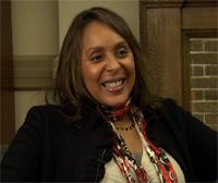Natasha Trethewey interviewing Elizabeth Alexander, 2009.