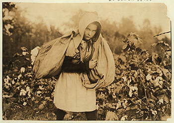 Figure 3. Callie Campbell. Pottawotamie County, Oklahoma, 1916. Photograph by Lewis Hine. Child Labor Collection, Library of Congress, LOT 7475, v.2, no. 4596.