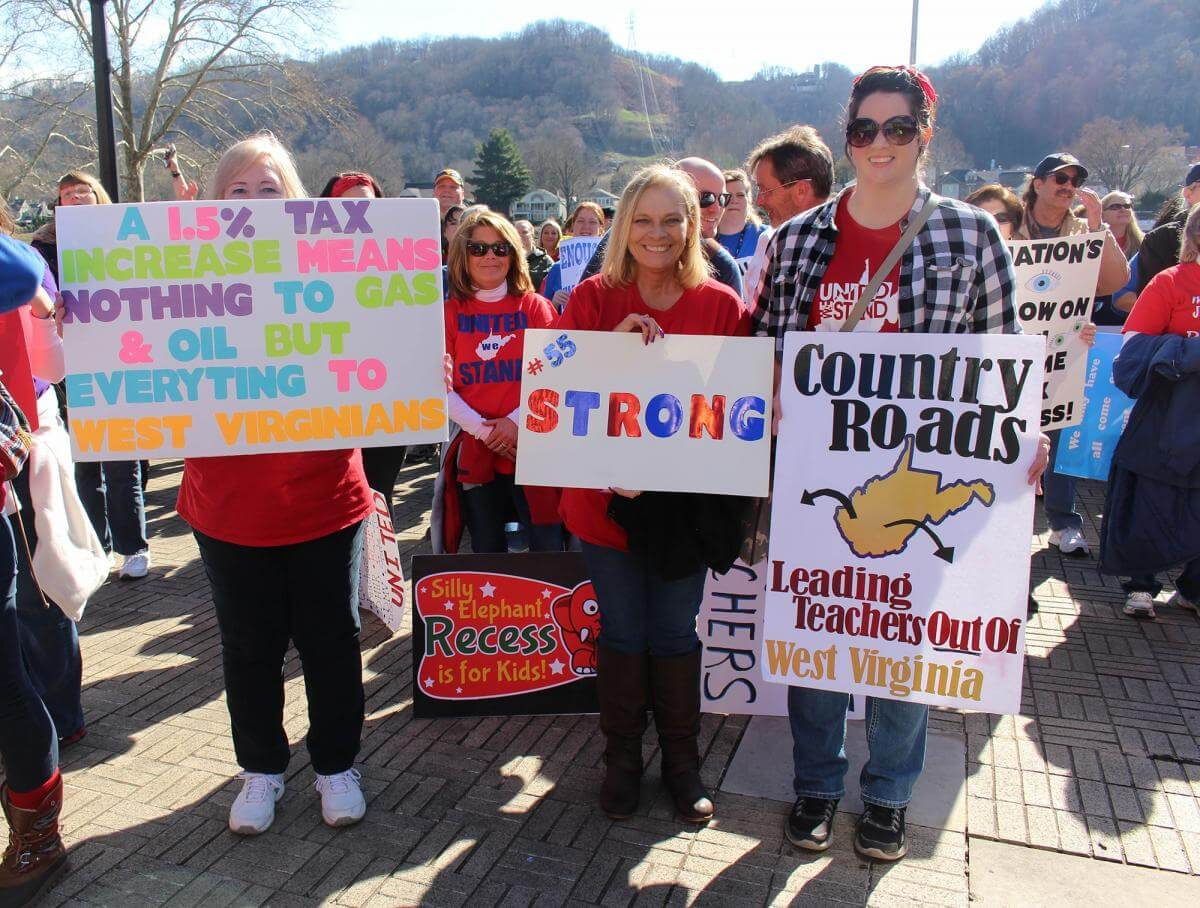 West Virginia Teachers' Strike, Charleston, West Virginia, February 26, 2018. Photograph by Emily Hilliard. Courtesy of the West Virginia Folklife Program at the West Virginia Humanities Council.