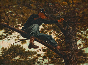 Sharpshooter, 1863. Oil on canvas by Winslow Homer. Courtesy of the Portland Museum of Art, 1992.41.