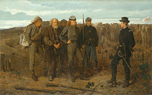 Prisoners from the Front, 1866. Oil on Canvas by Winslow Homer. Metropolitan Museum of Art, Accession Number 22.207.