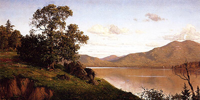 Saranac Waters, 1863. Oil on canvas by John S. Jameson. From The Athenaeum.