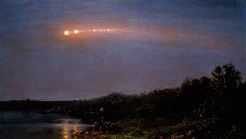 The Meteor of 1860, 1860. Oil on canvas by Frederic Edwin Church. Courtesy of WikiPaintings.org.
