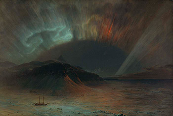 Aurora Borealis, 1865. Oil on canvas by Frederic Edwin Church. Courtesy of the Smithsonian American Art Museum, 1911.4.1.